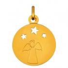 Médaille Ange étoiles ajourées